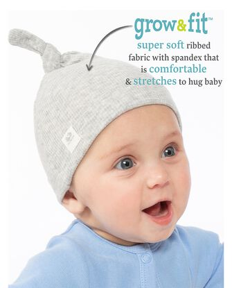 Baby Girls' Grow & Fit Hats, 2 Pack