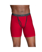 Men's CoolZone Fly Ringer Boxer Briefs, 5 Pack Assorted