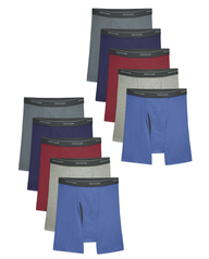 Men's CoolZone Fly Assorted Boxer Briefs, 10 Pack ASSORTED