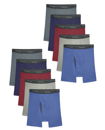 Men's CoolZone Fly Assorted Boxer Briefs, 10 Pack