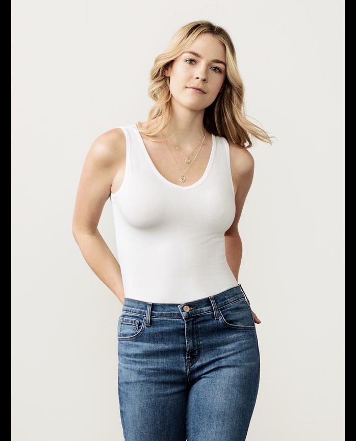 Women's Seek No Further® V-Neck Tank Top, 1 Pack White