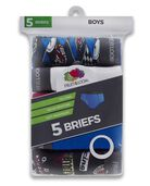 Boys' Print and Solid Fashion Briefs, 5 Pack ASSORTED