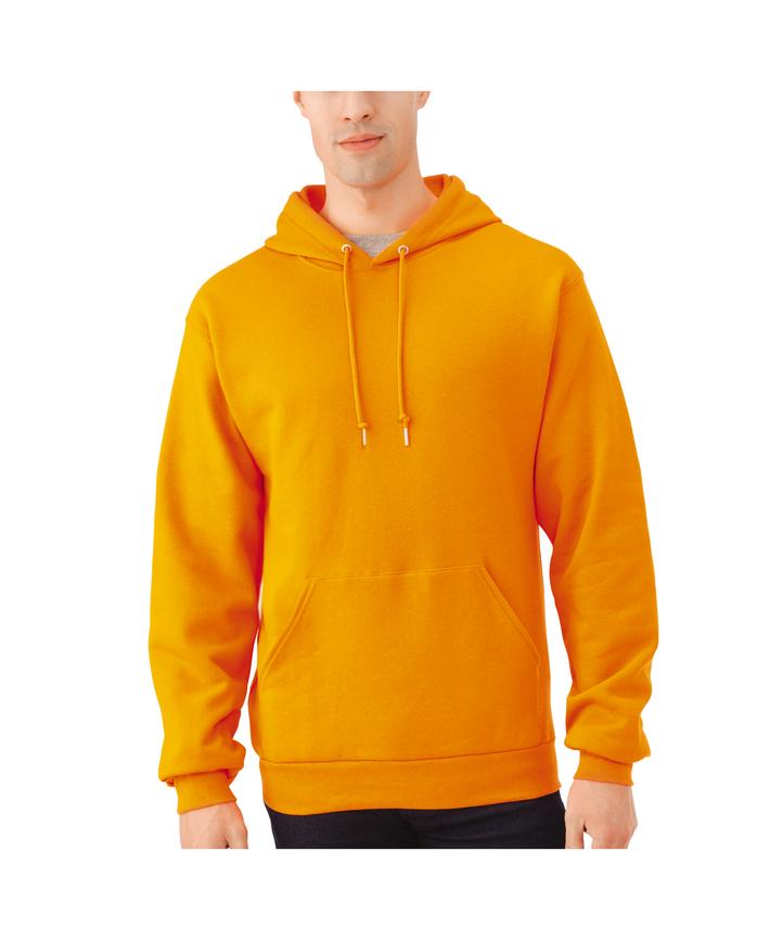 Men's EverSoft Fleece Pullover Hoodie Sweatshirt, 1 Pack Safety Orange