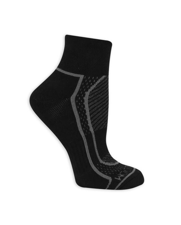 Women's CoolZone Cushioned Cotton Crew Socks, 5 Pack BLACK/GREY, BLACK/PINK, BLACK/PURPLE, BLACK/LAVENDAR, BLACK/BLUE