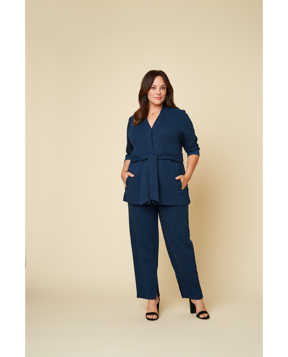 Women's Seek No Further Plus Size Trouser Dress Pants Navy Nights