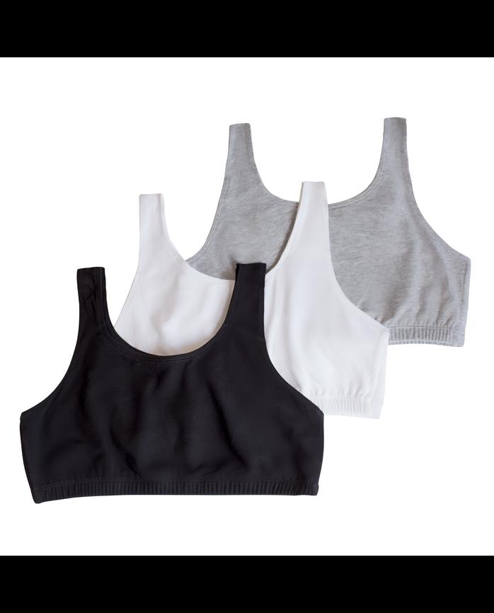 8d92eb1ba5 Girls  Cotton Stretch Sports Bra 3 Pack - Fruit US