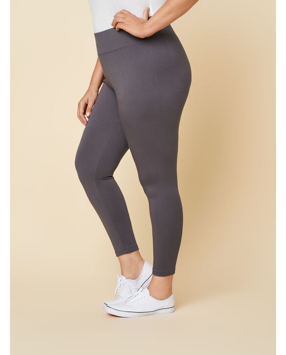 Women's Seek No Further Plus Size Wide Waistband Ponte Stretch Leggings Charcoal