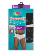 Men's Breathable Black and Grey Brief, 4 Pack Assorted