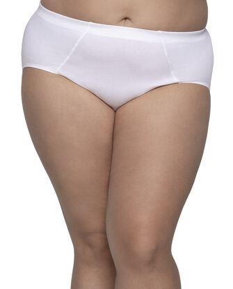 Fit for Me Women's Flexible Fit Brief Panty, 6 Pack