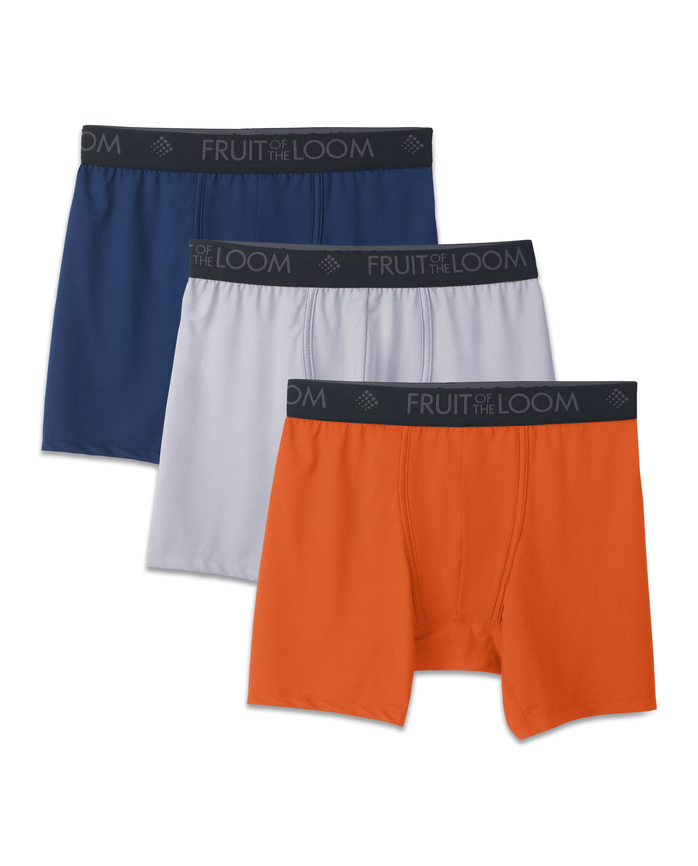 Men's 3 Pack Breathable Lightweight Micro Mesh Boxer Brief