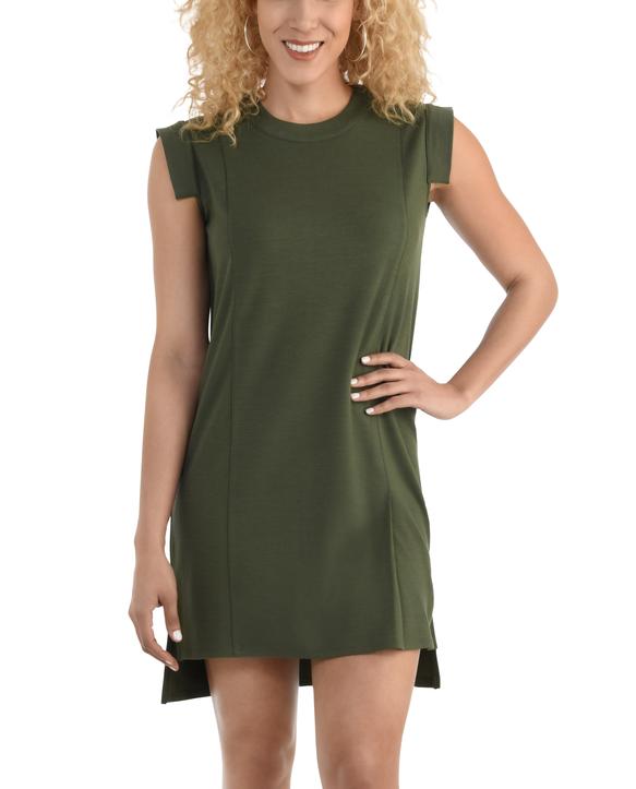 Women's Seek No Further Pleated Ponte Shift Dress Military Green