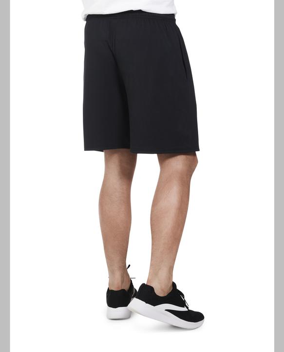 Big Men's Dual Defense UPF Jersey Shorts, 2 Pack Black