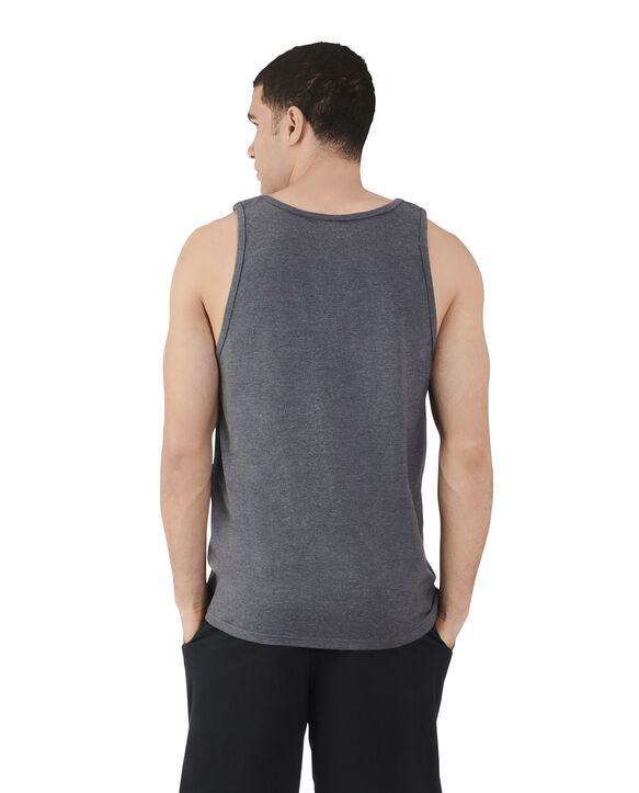 Men's Dual Defense UPF Sleeveless Tank Top Charcoal Heather
