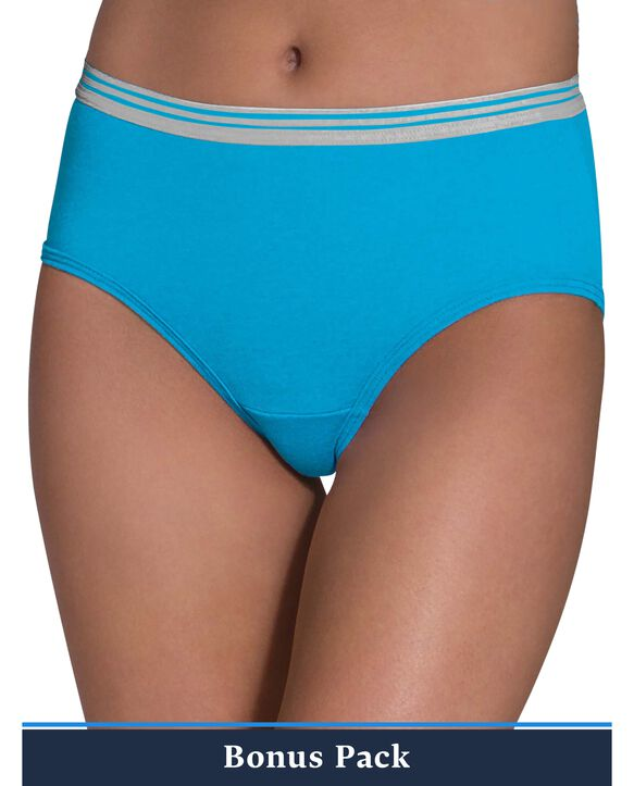 Women's Assorted Heather Low Rise Brief Panty, 9 Pack