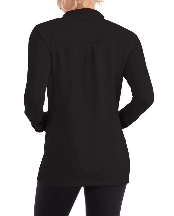 Women's Seek No Further Long Sleeve Full Zip Raglan Track Jacket Brilliant Black