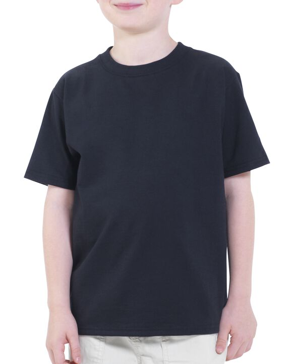 Boys' Short Sleeve Crew T-Shirt, 2 Pack Black