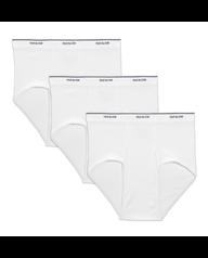 Men's Dual Defense Classic White Briefs, 3 Pack White