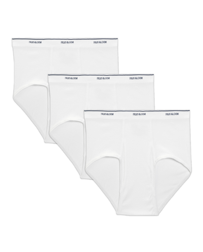 Men's Big and Tall White Brief, 3 Pack
