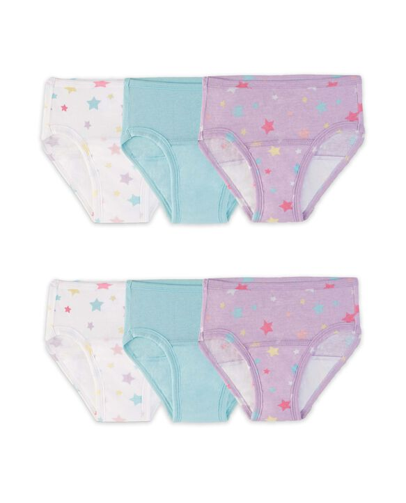 Toddler Girls' Training Pant, 6 Pack Assorted