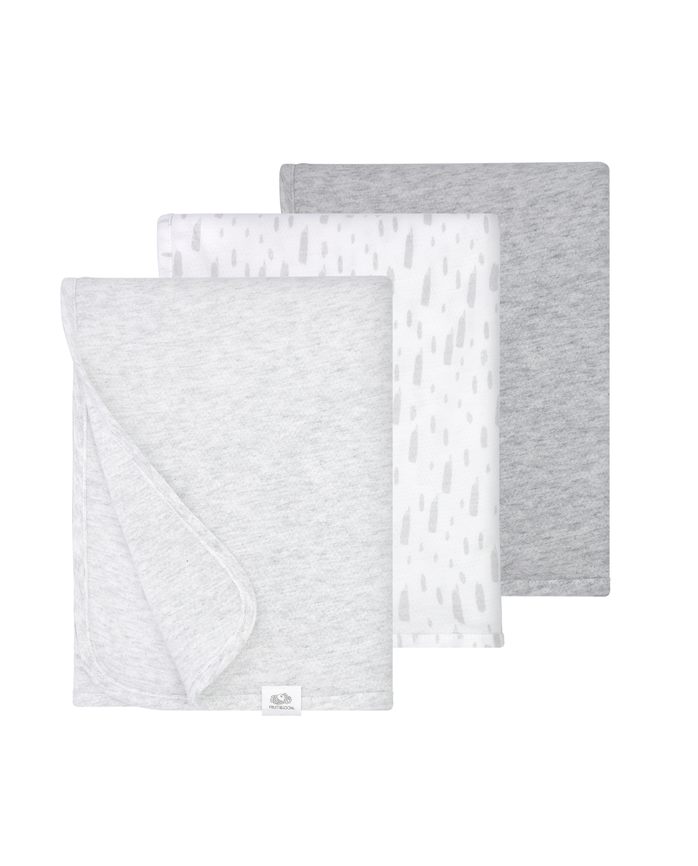Baby Breathable Blankets, 3 Pack