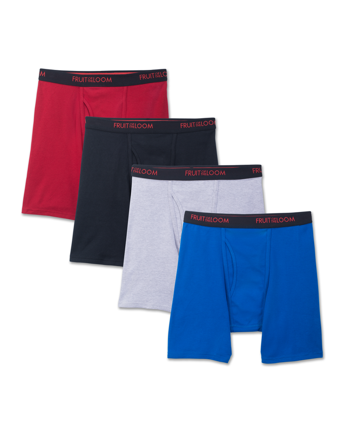 Men's Premium Dri-Stretch Boxer Brief - Assorted, 4 Pack