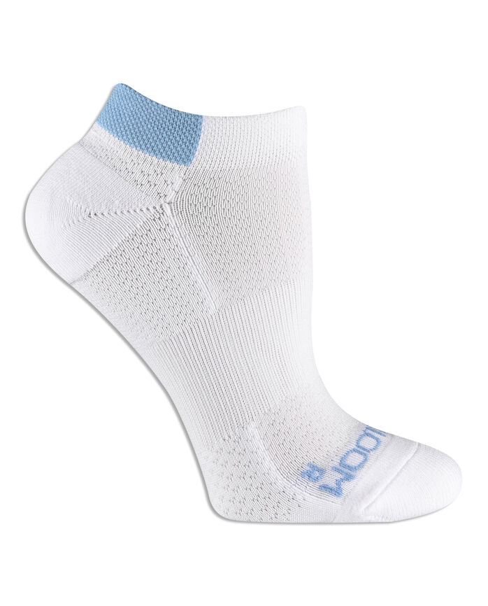 Women's Fit For Me® Breathable Nylon No Show Pair, 3 Pack, Size 4-10 WHITE