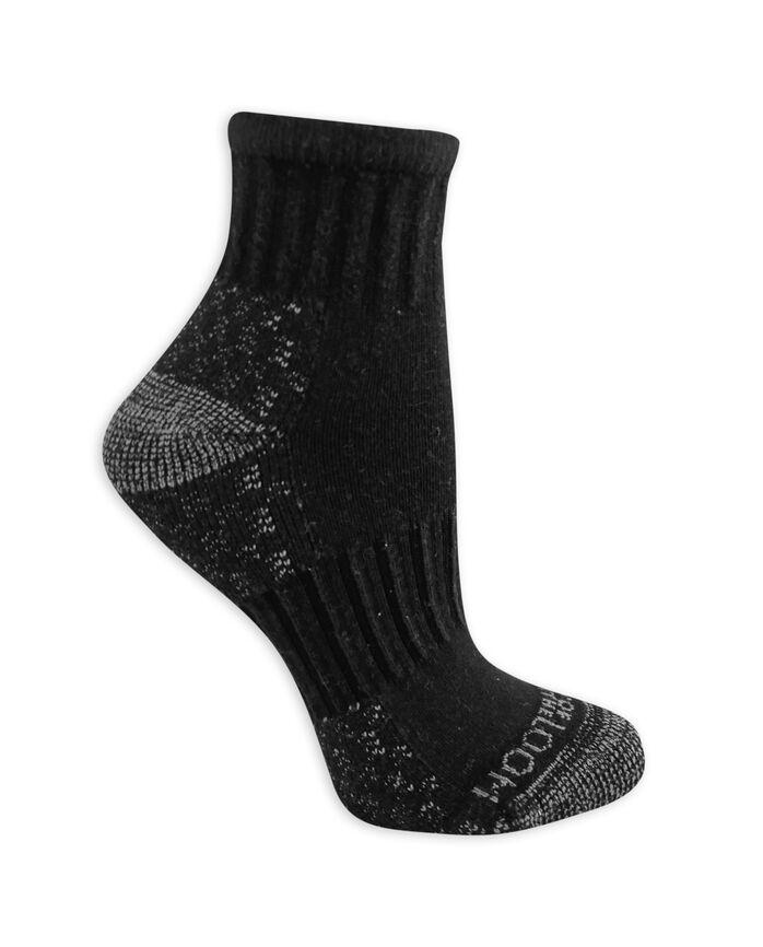 Women's On Her Feet Cotton Zone Cushion Ankle Socks, 3 Pack BLACK/GREY, BLACK/DENIM