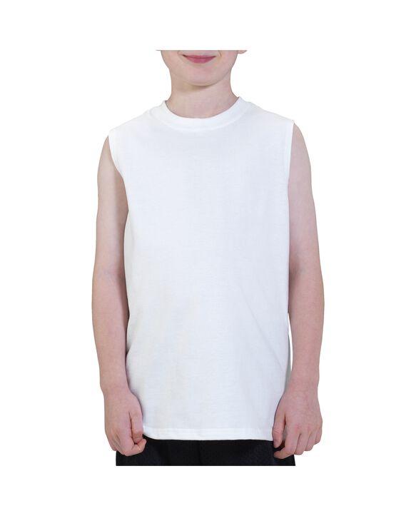 Boys' Sleeveless T-Shirt White
