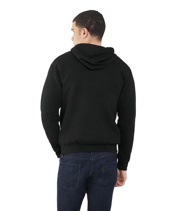Men's EverSoft Fleece Full Zip Hoodie Jacket, 1 Pack Rich Black
