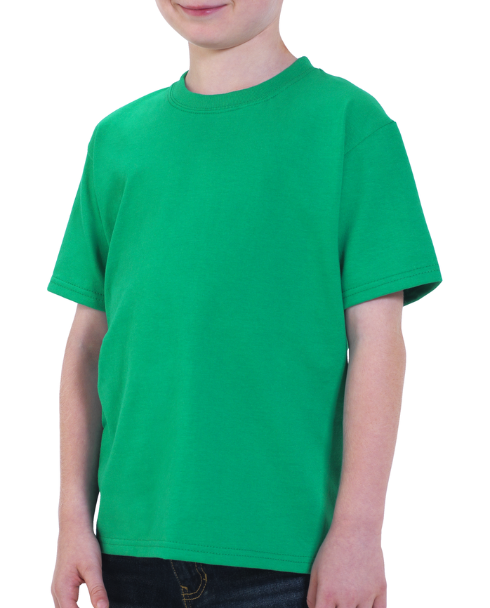 Boys' Short Sleeve Crew T-Shirt, 2 Pack Kelly Green