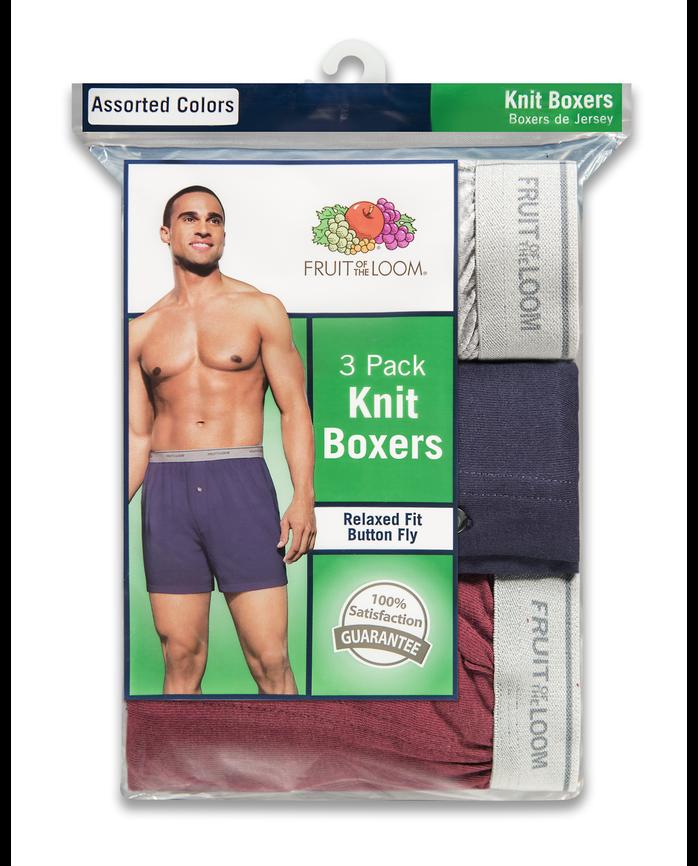 Men's 3 Pack Knit Boxer Extended Sizes
