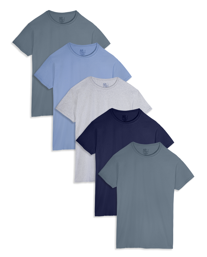 Men's Dual Defense® Assorted Crew Neck T-Shirts, 5 Pack