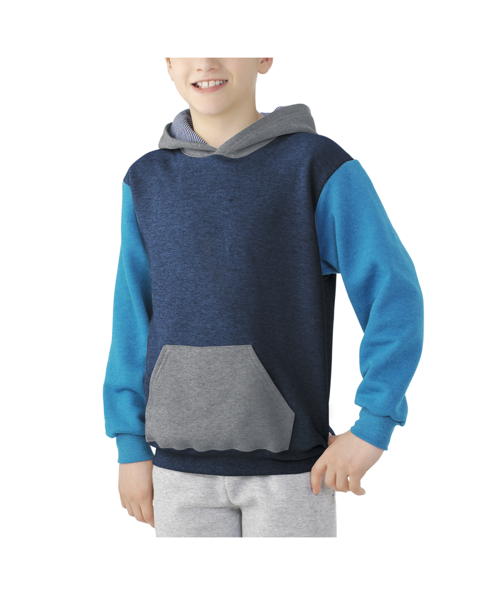 Boys Fleece Hoodie Sweatshirt Blue Heather