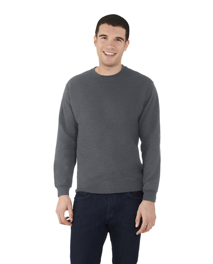 Men's EverSoft Fleece Crew Sweatshirt Charcoal Heather