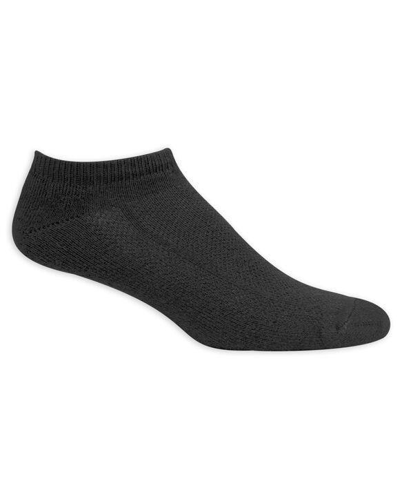 Men's Breathable Cotton No Show Socks, 6 Pack, Size 6-12 BLACK