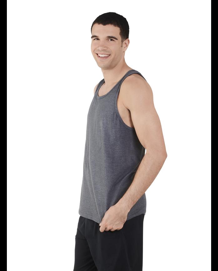 Men's Dual Defense UPF Sleeveless Tank Top Charcoal Heather
