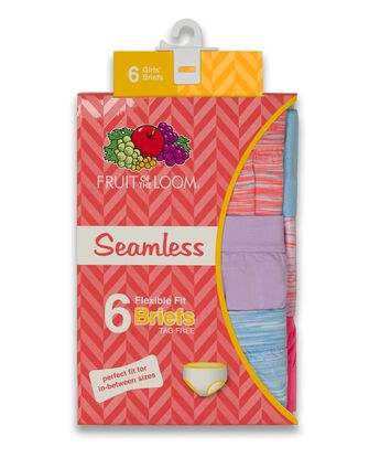 Girls' Seamless Brief, 6 Pack