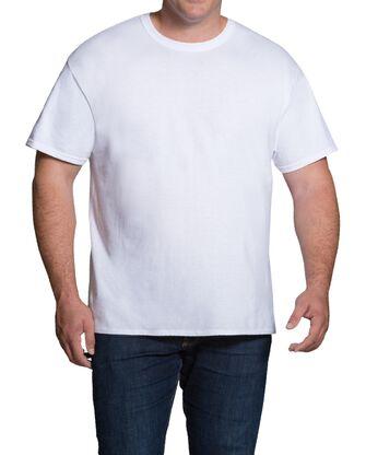 Big Men's Short Sleeve White Crew T-Shirts, 3 Pack