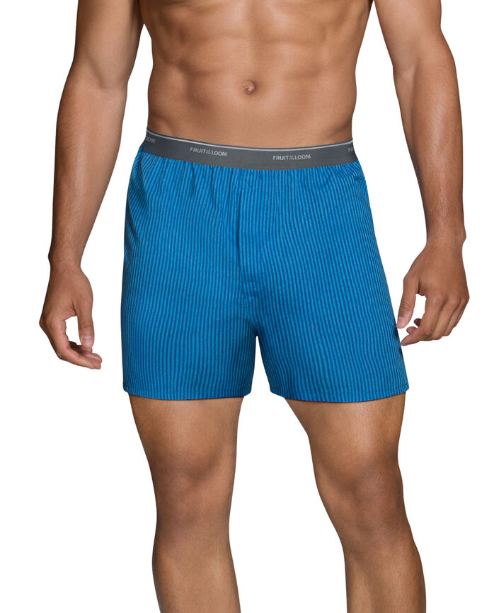 Men's Dual Defense Printed Woven Boxer, 4 Pack, Extended Sizes
