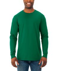 Men's Soft Long Sleeve Crew Neck T-Shirt, 2 Pack Clover