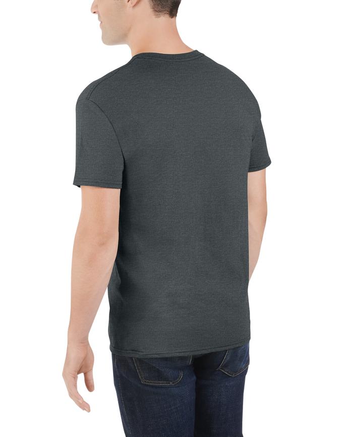 Big Men's Dual Defense UPF Short Sleeve Pocket T-Shirt, 1 Pack Charcoal Heather