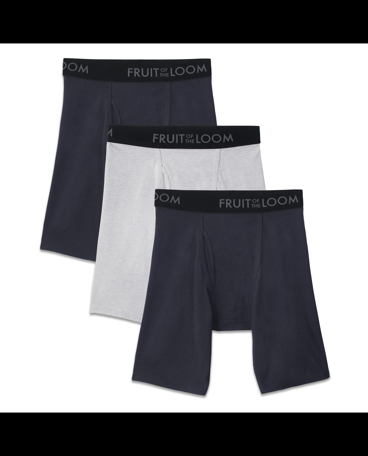 Men s 3 Pack Breathable Long Leg Boxer Brief - Fruit US 3ef9af627b