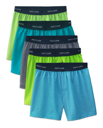 Boys' Stripe/Solid Knit Boxers, 5 Pack