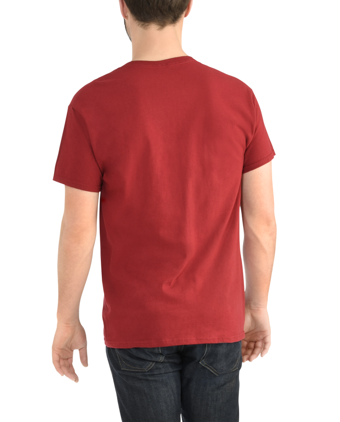 Big Men's Dual Defense UPF Short Sleeve Pocket T-Shirt Cardinal