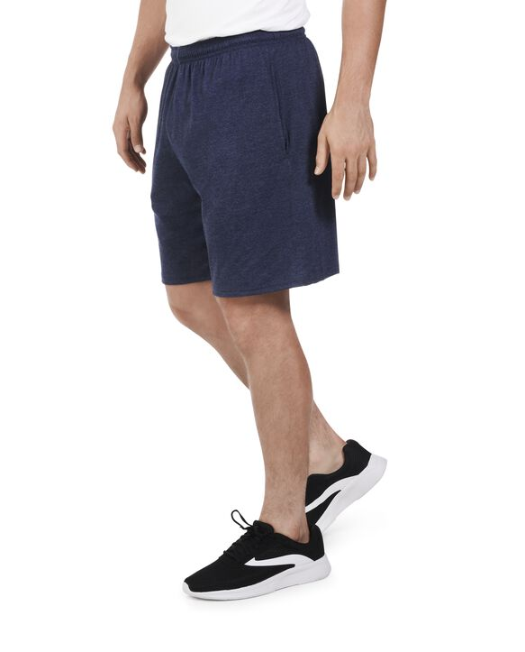 Men's Dual Defense UPF Jersey Shorts, 1 Pack Indigo Ink Heather