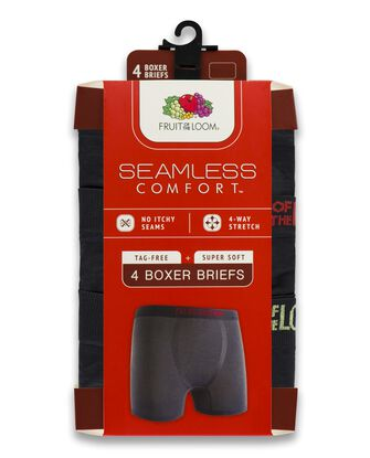 Boys' Seamless Comfort Boxer Briefs, 4 Pack
