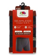 Boys' Seamless Comfort Boxer Briefs, 4 Pack