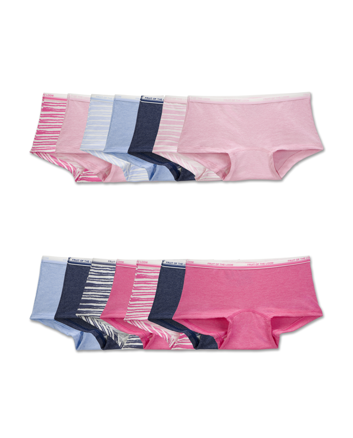 Girls' 14 Pack Assorted Heather Boy Short
