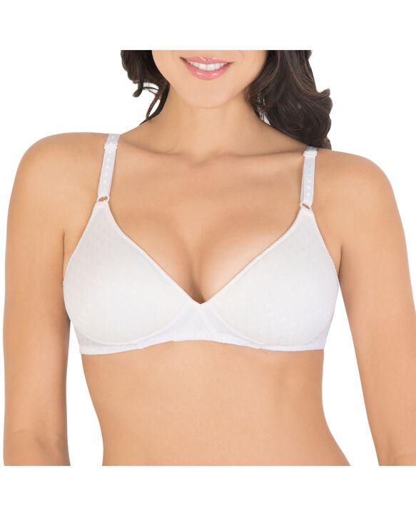 Women's Lightly Padded Wirefree Bra, 1 Pack WHITE