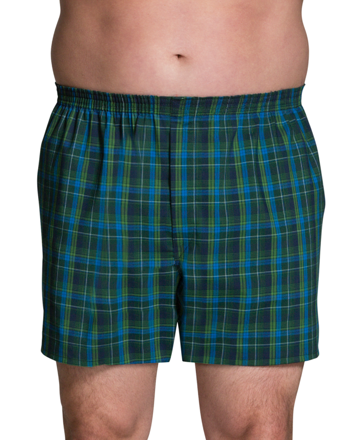 Men's Big and Tall Boxer, 3 Pack Assorted